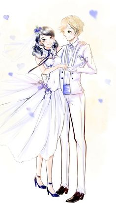 Marinette and Adrien wedding