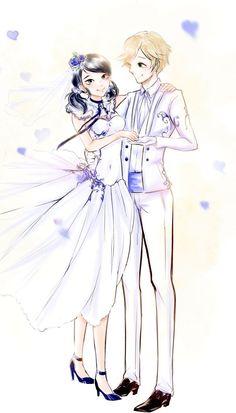 Marinette and Adrien wedding