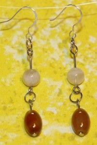 Carnelian and Sunstone Earrings