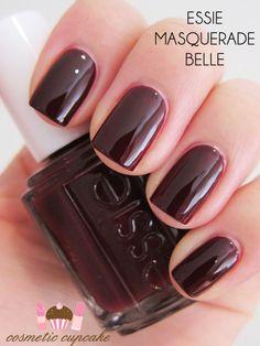 Essie polish... any dark color, or the chrome one...