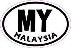 Oval MY Malaysia sticker