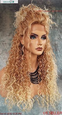 LACE FRONT LONG CURLY BLOND STYLE WIG T27.613 GORGEOUS SEXY STYLE US SELL 1089