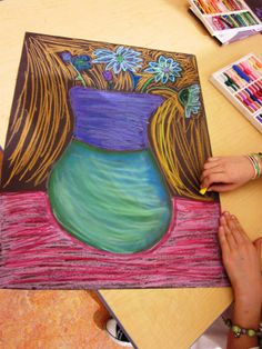 Oil and Chalk Pastel: Art Lessons For Kids