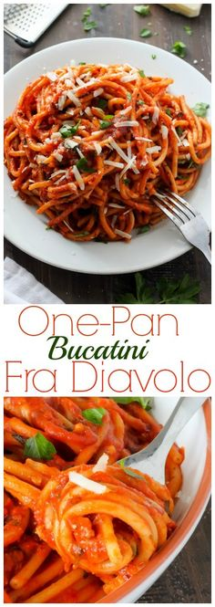 Incredible! Super Easy One-Pan Bucatini Fra Diavolo - spicy, saucy, and so delish!