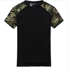 Man Casual Camouflage T-shirt Men Cotton Army Tactical Combat T Shirt Military Sport Camo Camp Mens T Shirts Fashion 2016 Tees #menst-shirtscasual