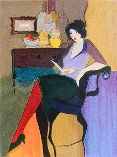 Itzchak Tarkay | Woman Reading