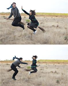 Harry Potter themed Engagement Photo Shoot. omg hilarious!