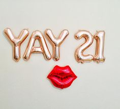 YAY 21 Balloons Number 21 Balloons 21st Birthday Photo Prop