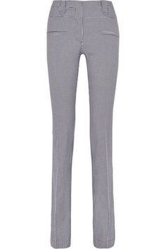 Altuzarra - Serge Houndstooth Stretch-cotton Flared Pants - Black - FR38