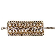 Gold-plated brass chain cuff by NY designer Diana Broussard. Available on Marilicious! 50% off