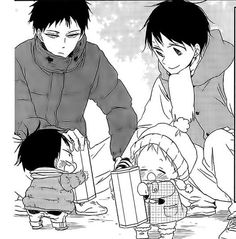 Manga Boy, Manga Anime, Gakuen Babysitters, Familia Anime, Anime Family, Gekkan Shoujo, Otaku, Haikyuu Ships, Fanarts Anime