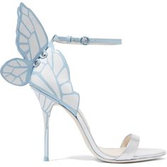 Sophia Webster Chiara patent-leather sandals (11,665 MXN) ❤ liked on Polyvore featuring shoes, sandals, heels, high heels, butterfly sandals, high heels sandals, bride shoes, strap high heel sandals and wing shoes