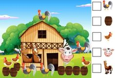 cheznounoucricri - Page 122 Preschool Education, Preschool Math, Preschool Worksheets, Maths, Oral Motor Activities, Activities For Kids, Farm Animals, Animals And Pets, Preschool Tables