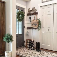 """2,164 Likes, 89 Comments - Dale Marie (@bloomingdiyer) on Instagram: """"I just love looking at our little entry wayMakes me smile to see how far it's come with some…"""""""