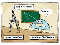 Compass vs. Protractor! | Read The Daily Drawing #comics @ http://www.gocomics.com/the-daily-drawing/2015/07/31?utm_source=pinterest&utm_medium=socialmarketing&utm_campaign=social | #GoComics #webcomic #math