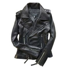Black Leather Motorcycle Jackets With Epaulets ($233) ❤ liked on Polyvore featuring outerwear, jackets, chicnova, leather jacket, && clothes, leather zip jacket, moto zip jacket, genuine leather biker jacket, leather biker jacket and zipper jacket
