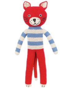 Red Crochet Cat, Anne Claire Petit