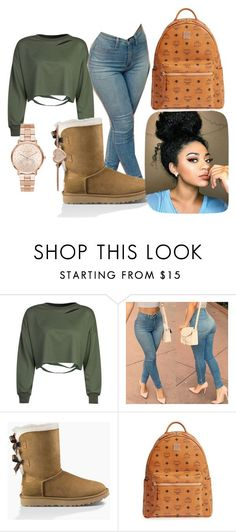 """""""Untitled #10"""" by chantel-darrisaw on Polyvore featuring WithChic, UGG Australia, MCM and Michael Kors"""