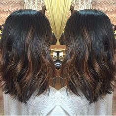 balayage hair dark brown medium length - Google Search