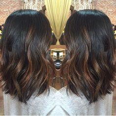 balayage hair dark brown medium length - Google Search
