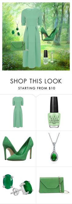 """Grass is greener"" by chauert ❤ liked on Polyvore featuring OPI, Nine West, Bling Jewelry and Valextra"