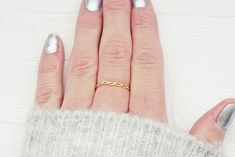 Gold Twisted Ring   Hammered Braided Ring   Solitaire Ring   Dainty Woven Ring   Minimalist Ring Double Strand Twist, Braided Ring, Everyday Rings, Twist Ring, Handmade Rings, Knuckle Rings, Round Earrings, Solitaire Ring, Minimalist