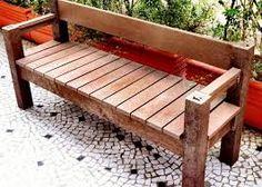 Troco banco de palete trocar casa e jardim paletes for Google banco exterior
