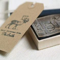 personalised christmas stamp by pretty rubber stamps | notonthehighstreet.com