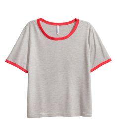 Lyhyt T-paita | Valkoinen/Raidallinen | Ladies | H&M FI