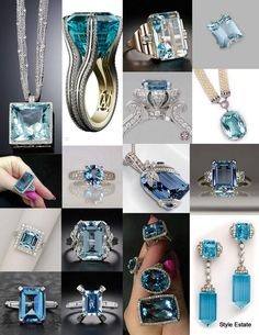 20 Gorgeous Aquamarines - Be sure to check out my Select Jewelry board on Pinterest.