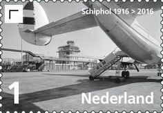 Stamp: Schiphol 1916-2016 (Netherlands) (100 Years Schiphol) Mi:NL 3509,NVP:NL 3448