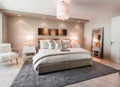 You'll Want to Stay in Bed Longer With These Fall Bedding Ideas and Trends - and Technology Cream Carpet Bedroom, Cream Bedroom Furniture, Bed Furniture, Luxury Furniture, Furniture Removal, Furniture Companies, Cheap Furniture, Patterned Carpet, Grey Carpet