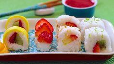 How to make frushi or fruit sushi.   Health.com