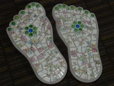 Mosaic Garden Stepping Stones | Mosaic Stepping Stones for the Garden Set of by MosaicsbyMadonna, $75 ...