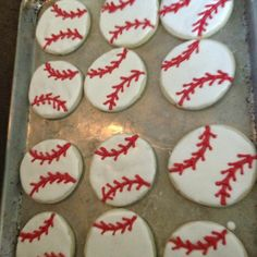 ... cookies for our sons baseball snack~ sugar cookie with royal icing