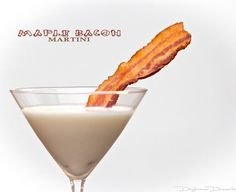 Maple Bacon Martini! Mmmmm, great combo! Cheers! What Southerner doesn't love bacon?! :)