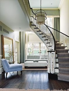 Stairs, windows