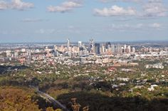 View of Brisbane city from Mount Coot-Tha.