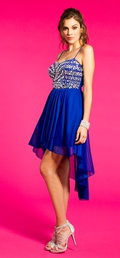 Sequin Hi-Low Dress