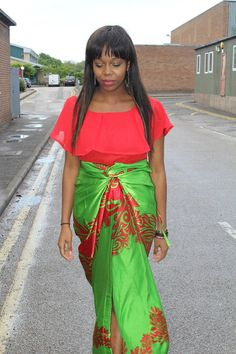 Fabric Express Red Cape Iro and Buba on Etsy, £40.00