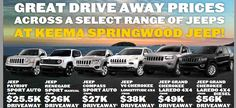 Book your test drive & buying a Jeep model at Keema Cars or Keema Automotive Group. Great deal on Jeep Patriot Sport Auto from $25,500 Drive away. Get the Jeep Grand Cherokee Laredo 4x4 from $49,000.