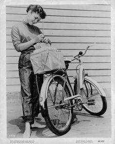 Debby Reynolds again. vintage bike beach cruiser bicycle