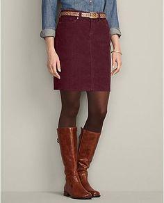 SF Stylist: I love cord skirts!