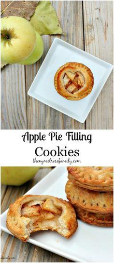 Apple Pie Filling Cookies www.thenymelrosefamily.com #apple_pie #cookies