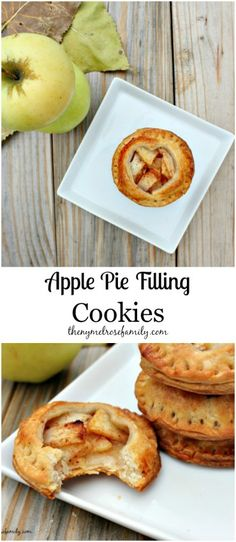 Apple Pie Filling Cookies www.thenymelrosefamily.com #apple_pie #cookies
