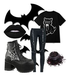 """""""O.K. 👌🏻"""" by witchymedusa on Polyvore featuring Mode, Demonia und Uniglitter"""