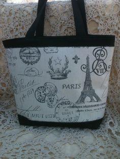 tan black Paris purse handbag tote by SelahsShop on Etsy, $38.00