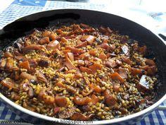 Receta de arroz con sepia en su tinta
