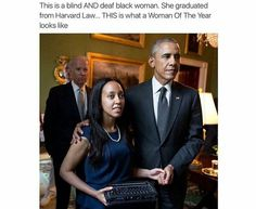 Inspirational_ Haben Girma (born July is an African American woman, a disability rights advocate, and the first deafblind graduate of Harvard Law School. Black Girls Rock, Black Girl Magic, Presidente Obama, Black History Facts, Religion, Black Pride, My Black Is Beautiful, African American History, American Women