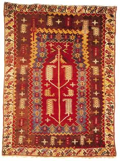 This hand knotted one-of-a-kind vintage Turkish Anatolian rug was handwoven in the Turkey over 250 years ago using wool and vegetable dyes. This particular Anatolian rug is flat woven (kilim rug), and is in excellent condition Floor Cloth, Prayer Rug, Magic Carpet, Persian Carpet, Oriental Rug, Kilim Rugs, Rugs On Carpet, Bohemian Rug, Area Rugs